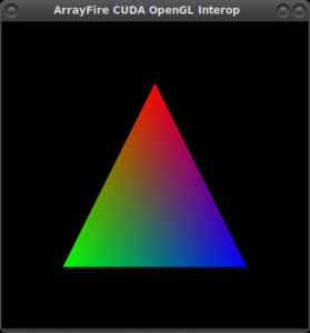 ArrayFire CUDA OpenGL Interop